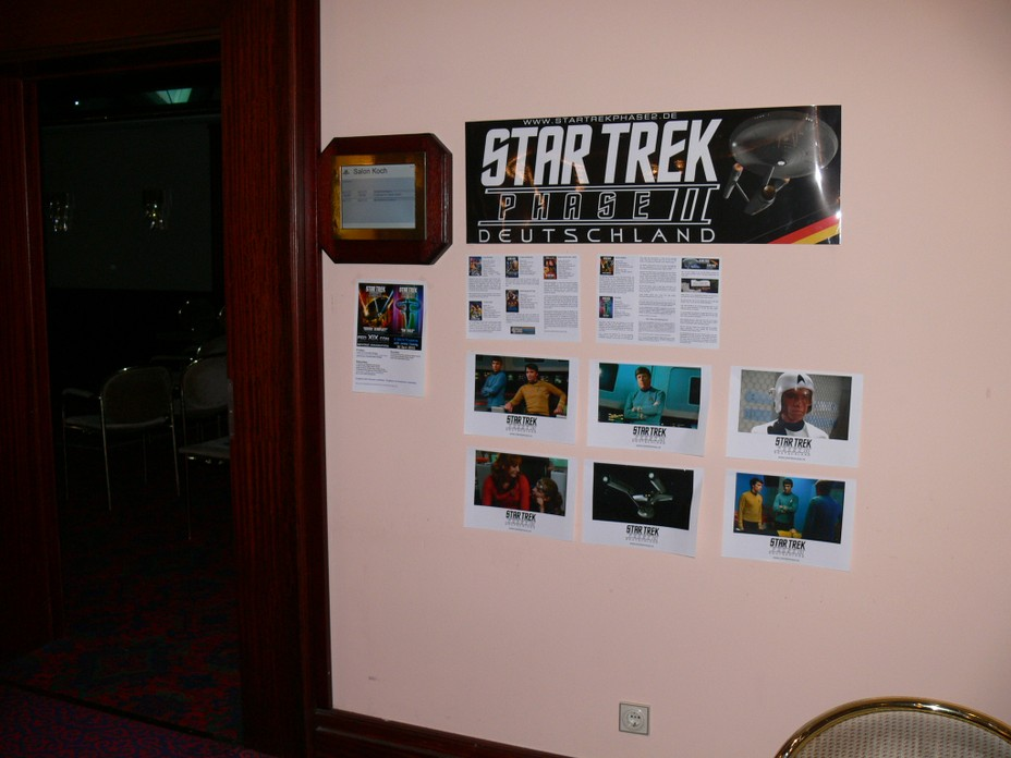 The entrance to the Star Trek Phase II room where we showed our episodes.